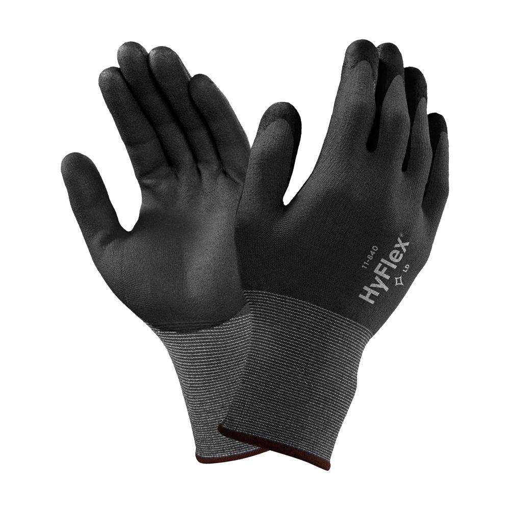 Taille:L 10 Paires de MaxiFlex Elite gants de travail enduits nitrile